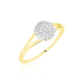 Bague Or Jaune Aspasia Diamants - Bagues avec pierre Femme   Histoire d'Or