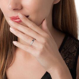 Bague Lou Or Blanc Diamant - Bagues solitaires Femme   Histoire d'Or