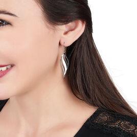 Boucles D'oreilles Acier Salaya Plume - Boucles d'Oreilles Plume Femme | Histoire d'Or