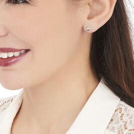 Boucles D'oreilles Puces Ouassima Or Jaune Diamant - Clous d'oreilles Femme | Histoire d'Or