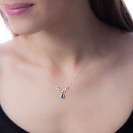 Collier Sissi Or Blanc Saphir Diamant - Colliers Infini Femme | Histoire d'Or
