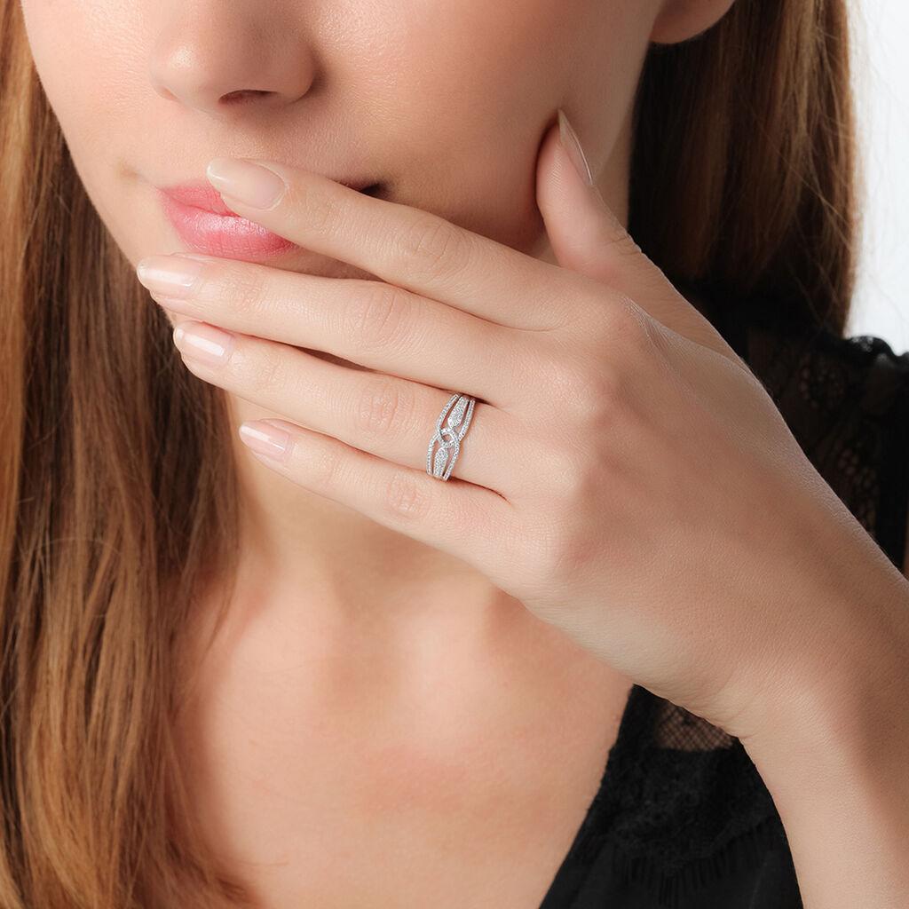 Bague Diana Or Blanc Diamant - Bagues avec pierre Femme | Histoire d'Or