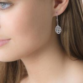Boucles D'oreilles Pendantes Ailine Or Blanc - Boucles d'oreilles pendantes Femme   Histoire d'Or