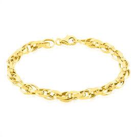 Bracelet Aaron Maille Fantaisie Or Jaune - Bracelets chaîne Femme | Histoire d'Or