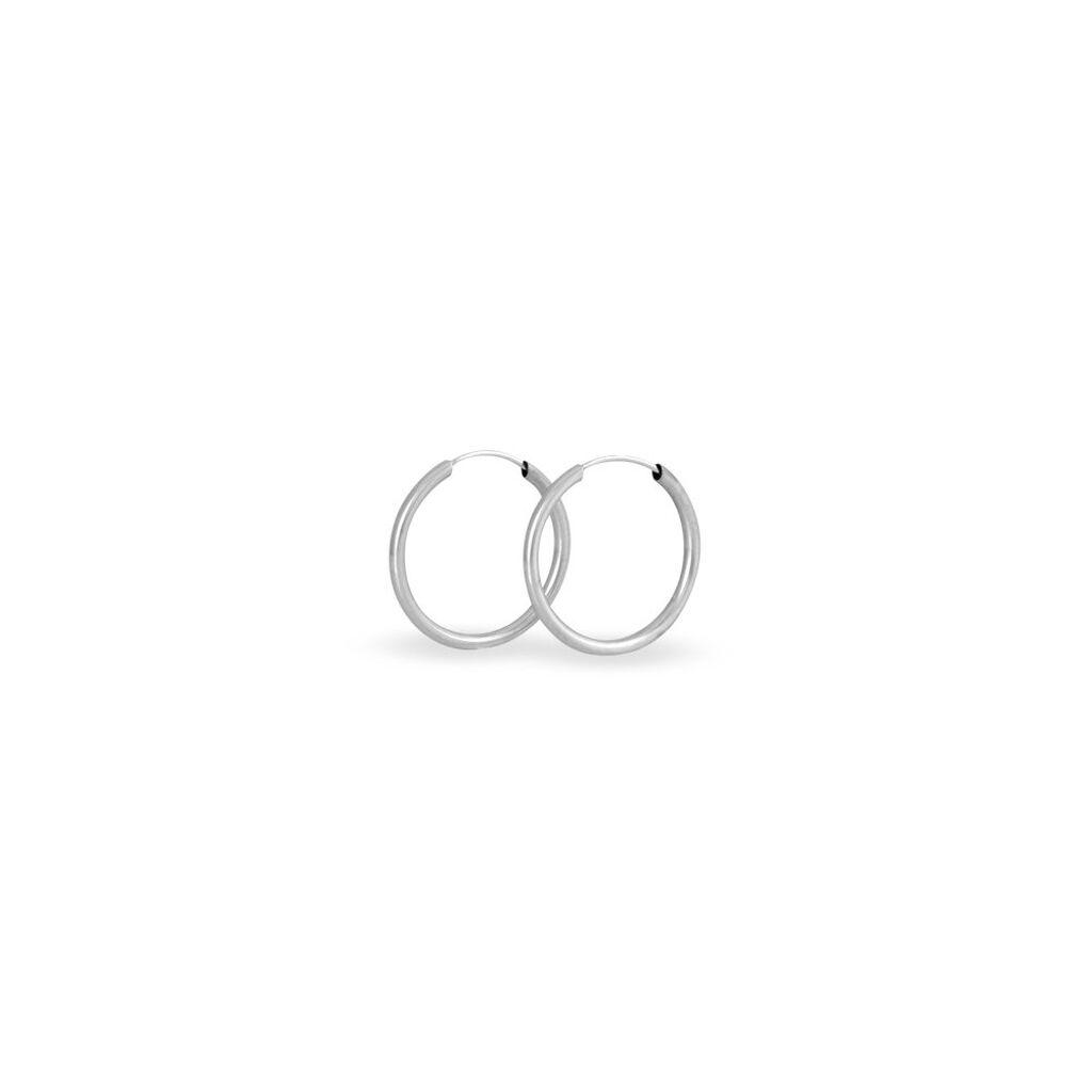 Créoles Valencina Flexibles Rondes Or Blanc - Boucles d'oreilles créoles Femme   Histoire d'Or