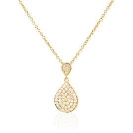 Collier Leïla Plaque Or Jaune Oxyde De Zirconium - Bijoux Femme | Histoire d'Or