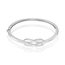Bracelet Jonc Lea Argent Blanc Oxyde De Zirconium - Bracelets joncs Femme | Histoire d'Or