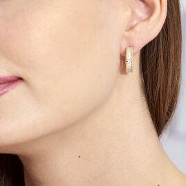 Boucles D'oreilles Plaque Or Marie-baptistine - Boucles d'oreilles fantaisie Femme | Histoire d'Or