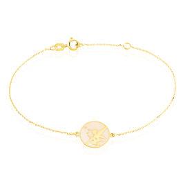 Bracelet Amphitrite Fee Or Jaune - Bracelets Naissance Enfant   Histoire d'Or