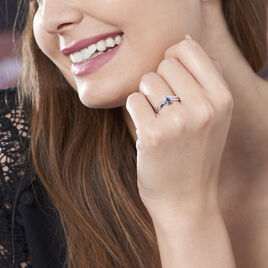 Bague Pasqualina Or Blanc Saphir Et Diamant - Bagues solitaires Femme | Histoire d'Or