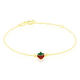 Bracelet Tharia Fraise Or Jaune - Bracelets Naissance Enfant | Histoire d'Or