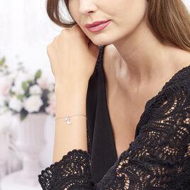 Bracelet Astre Argent Blanc Oxyde De Zirconium - Bracelets Lune Femme | Histoire d'Or