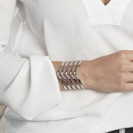 Bracelet Acier Blanc - Bracelets fantaisie Femme | Histoire d'Or