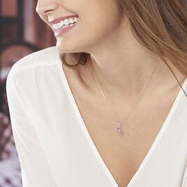 Collier Clothilde Or Jaune Amethyste Et Diamant - Colliers Coeur Femme   Histoire d'Or