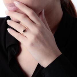Bague Or Jaune Quartz Et Diamant - Bagues avec pierre Femme   Histoire d'Or