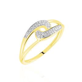 Bague Melisianne Or Jaune Diamant - Bagues avec pierre Femme   Histoire d'Or