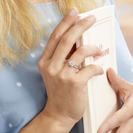 Bague Or Blanc Ofelie Solitaire Oxyde - Bagues solitaires Femme | Histoire d'Or