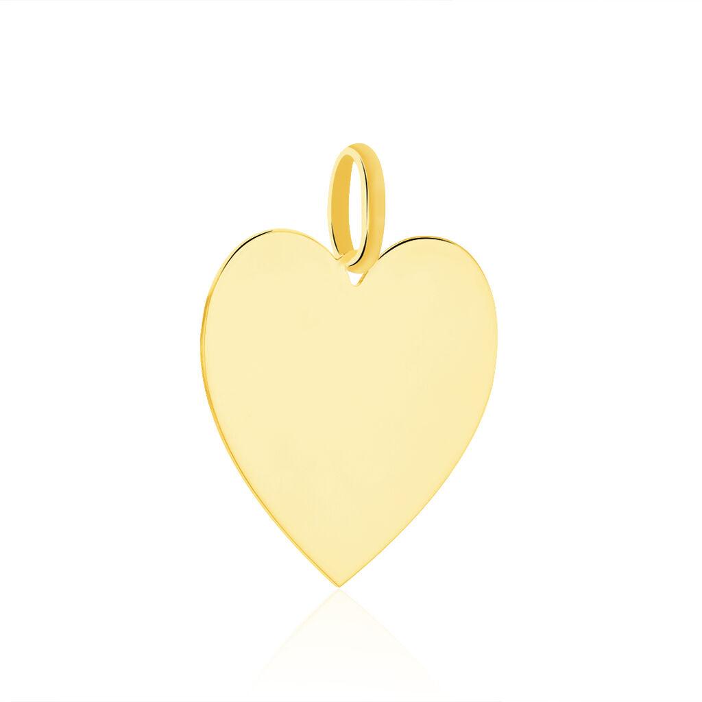 Pendentif Sirona Coeur Gravable Or Jaune - Pendentifs Coeur Femme | Histoire d'Or