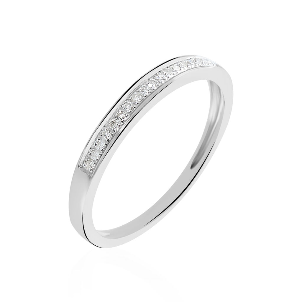 Alliance Divya Or Blanc Diamant - Alliances Femme | Histoire d'Or