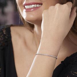 Bracelet Moscou Or Blanc Diamant - Bijoux Femme   Histoire d'Or