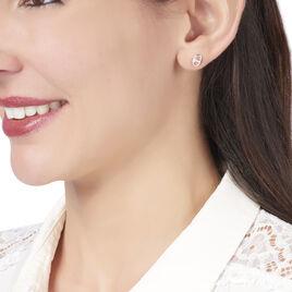 Boucles D'oreilles Puces Sherry Argent Blanc - Boucles d'oreilles fantaisie Femme   Histoire d'Or