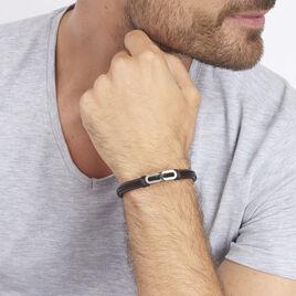 Bracelet Tristan Acier Blanc - Bracelets fantaisie Homme | Histoire d'Or