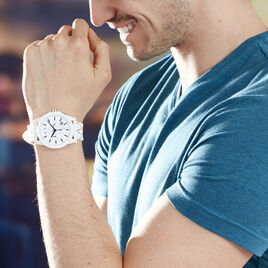 Montre Armani Exchange Outerbanks Blanc - Montres Homme | Histoire d'Or