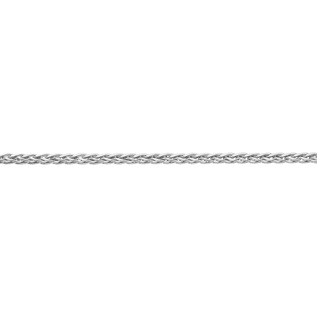 Bracelet Sherihane Maille Palmier Argent Blanc - Bracelets chaîne Femme   Histoire d'Or