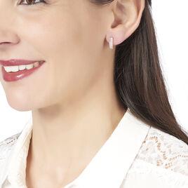 Créoles Roxana Ovales Or Rose Oxyde De Zirconium - Boucles d'oreilles créoles Femme | Histoire d'Or