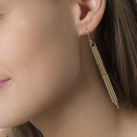Boucles D'oreilles Pendantes Ritej Plaque Or Jaune - Boucles d'oreilles fantaisie Femme   Histoire d'Or