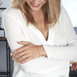 Bracelet Plaqué Or Jaune Magdalaine Oxyde De Zirconium - Bijoux Femme   Histoire d'Or