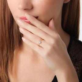 Bague Karlena Or Jaune Oxyde De Zirconium - Bagues solitaires Femme | Histoire d'Or