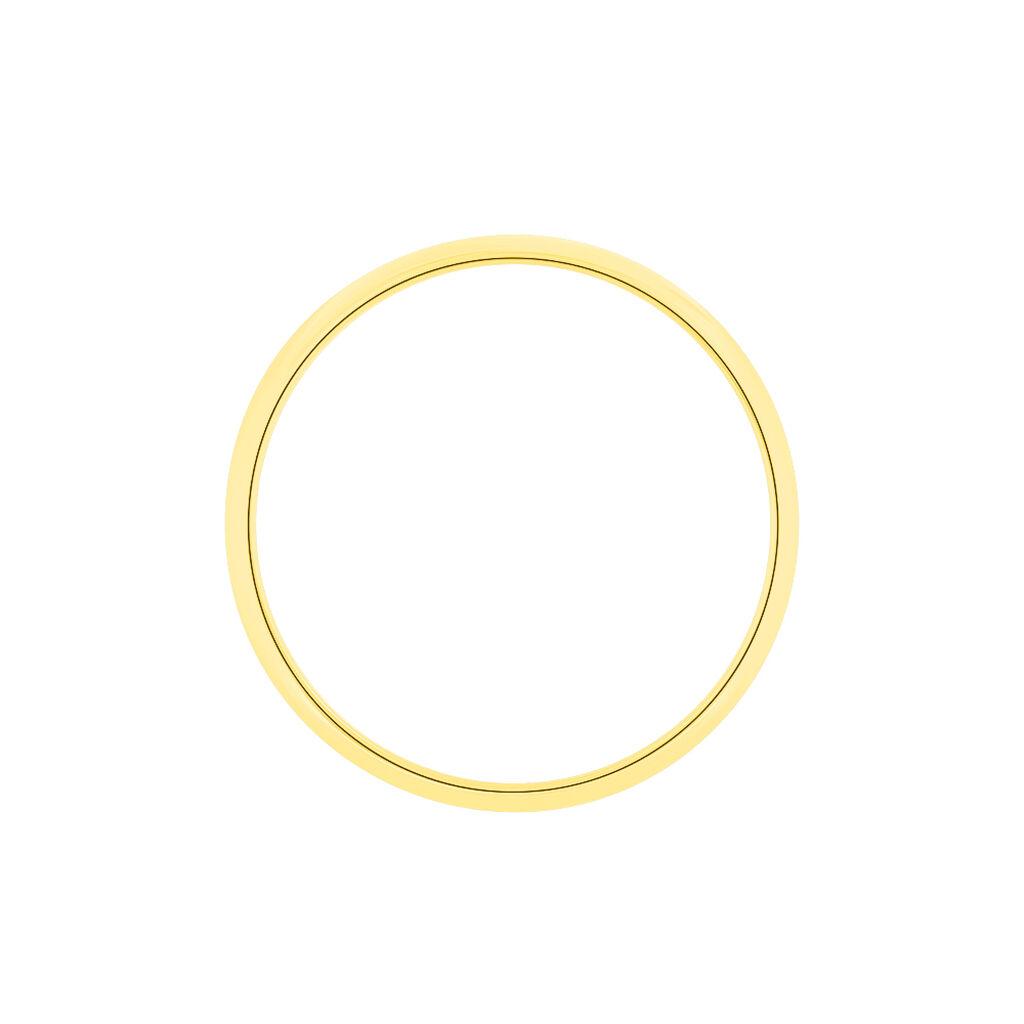 Alliance Aphrodite Demi Jonc Bombe Or Jaune - Alliances Famille | Histoire d'Or
