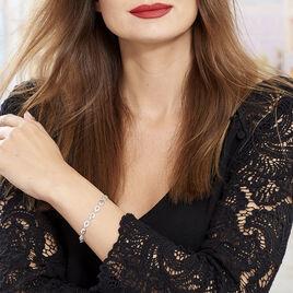 Bracelet Cicily Argent Blanc Oxyde De Zirconium - Bijoux Femme | Histoire d'Or
