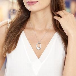 Collier Danie Argent Blanc Oxyde De Zirconium - Bijoux Femme | Histoire d'Or