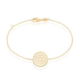 Bracelet Celso Plaque Or Jaune - Bracelets fantaisie Femme | Histoire d'Or
