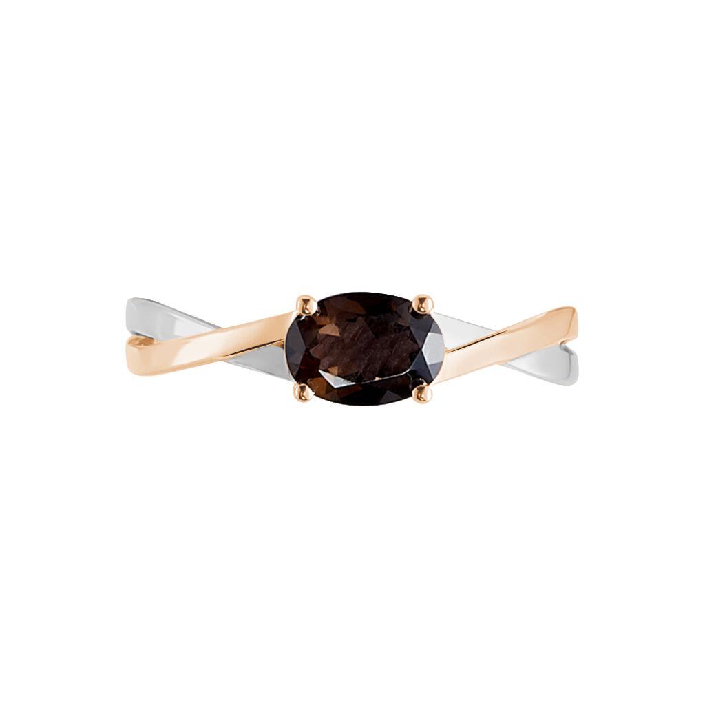 Bague Emeline Or Bicolore Quartz - Bagues avec pierre Femme   Histoire d'Or