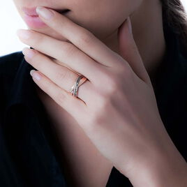 Bague Martika Or Rose Diamant - Bagues avec pierre Femme | Histoire d'Or