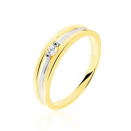 Bague Solitaire Darianne Or Bicolore Diamant - Bagues solitaires Femme | Histoire d'Or