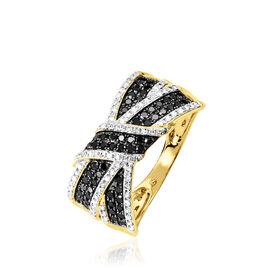 Bague Agnes Or Jaune Diamant - Bagues avec pierre Femme   Histoire d'Or