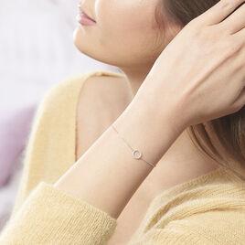Bracelet Lim Or Blanc Oxyde De Zirconium - Bijoux Femme | Histoire d'Or
