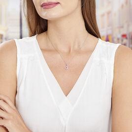 Collier Tania Argent Blanc Pierre De Synthese Et Oxyde De Zirconium - Colliers fantaisie Femme | Histoire d'Or