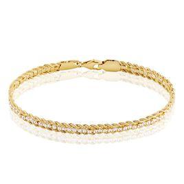 Bracelet Laur Plaqué Or Oxyde - Bracelets chaîne Femme | Histoire d'Or