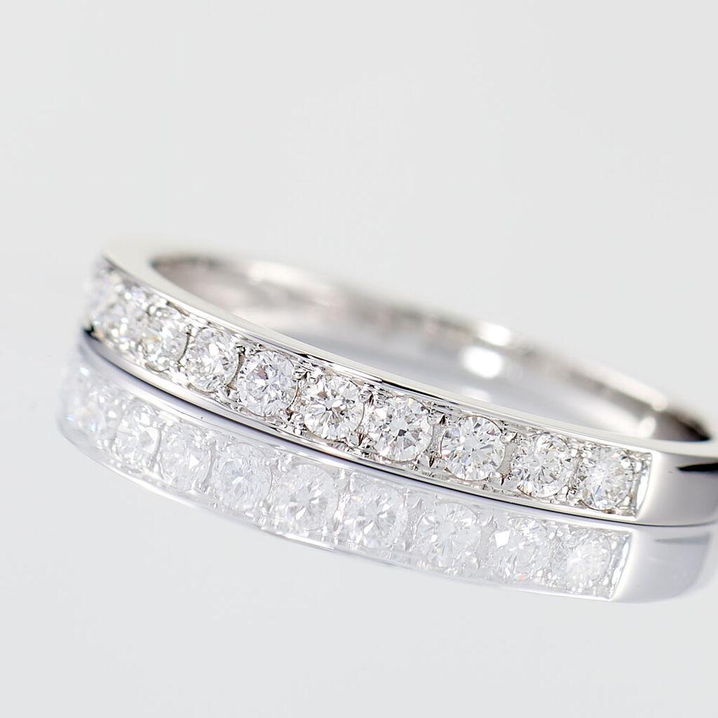 Alliance Juliette Or Blanc Diamant - Alliances Femme | Histoire d'Or