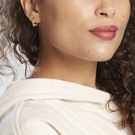 Créoles Tangerine Plaque Or Jaune - Boucles d'oreilles créoles Femme | Histoire d'Or