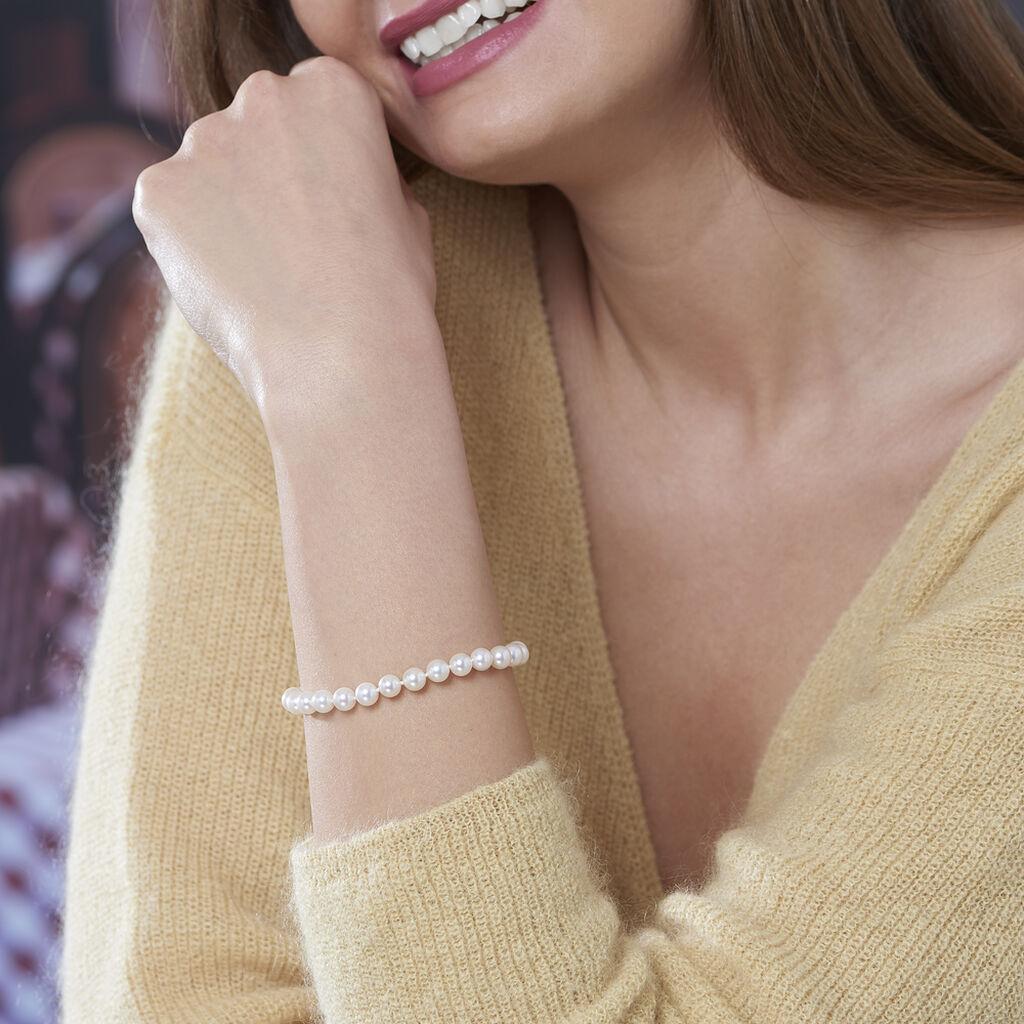 Bracelet Akoya Or Jaune Perle De Culture D'akoya - Bijoux Femme   Histoire d'Or