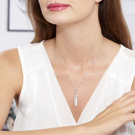 Collier Navajo Argent Blanc - Colliers Plume Femme | Histoire d'Or