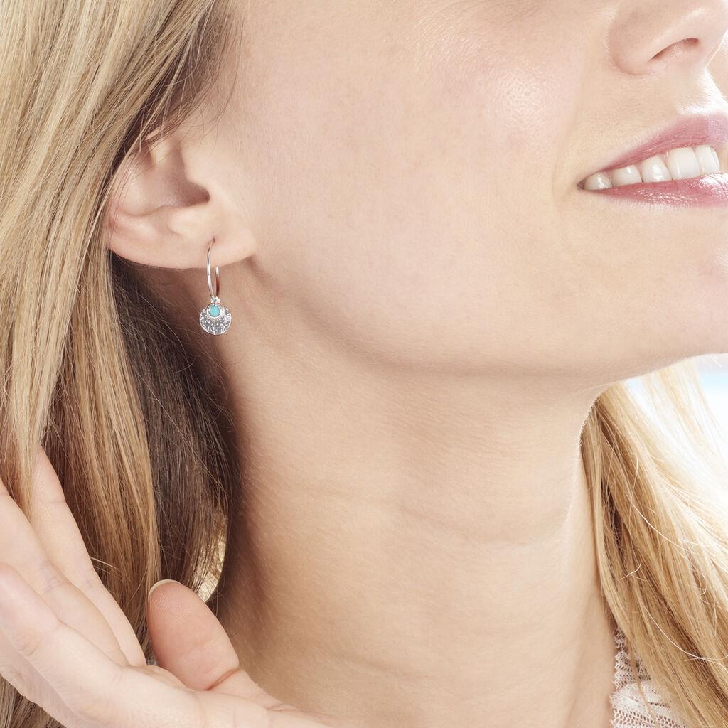 Créoles Tanaya Argent Blanc Verre - Boucles d'oreilles créoles Femme   Histoire d'Or