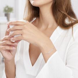 Bracelet Carla Argent Blanc Oxyde De Zirconium - Bracelets fantaisie Femme   Histoire d'Or