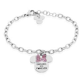 Bracelet Disney Acier Blanc Cristaux - Bracelets fantaisie Femme | Histoire d'Or
